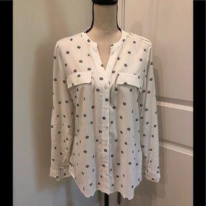 NWT Calvin Klein White and black shirt